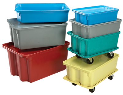 Fiberglass Nest and Stack Containers by MFG Tray